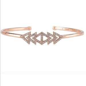 Stella & Dot Rose Gold Pave Triangle Cuff